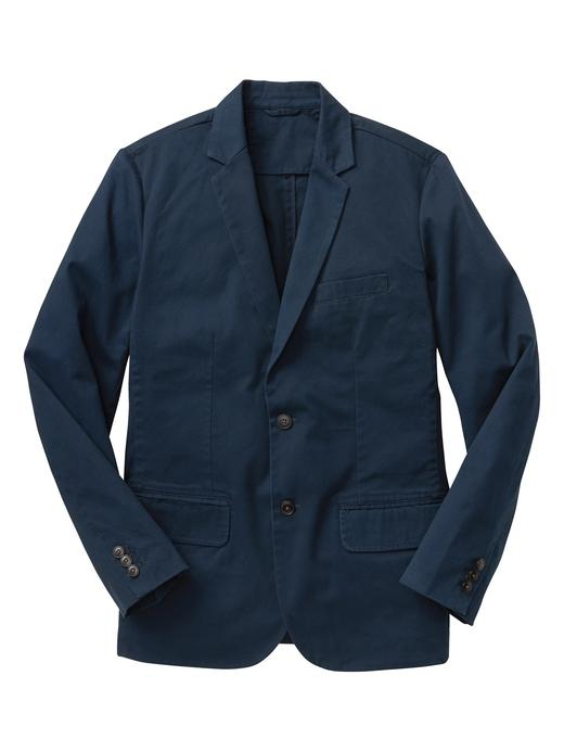 Erkek Lacivert Twill Blazer Ceket