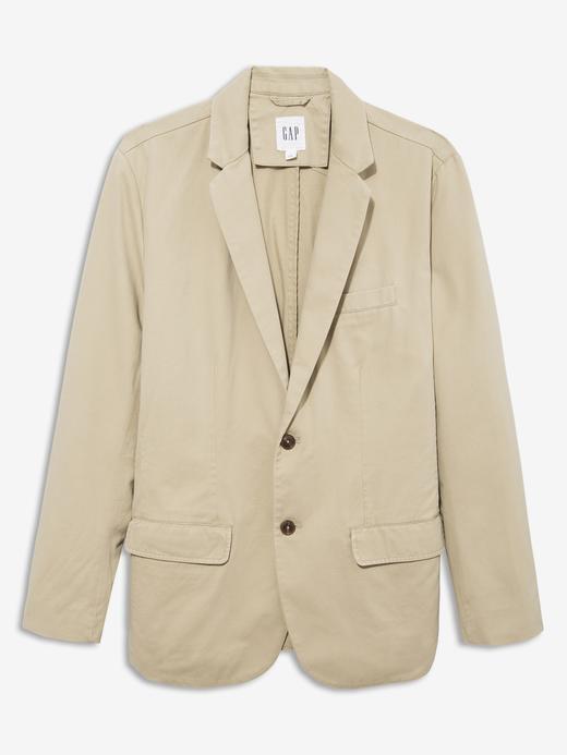 Erkek Bej Twill Blazer Ceket