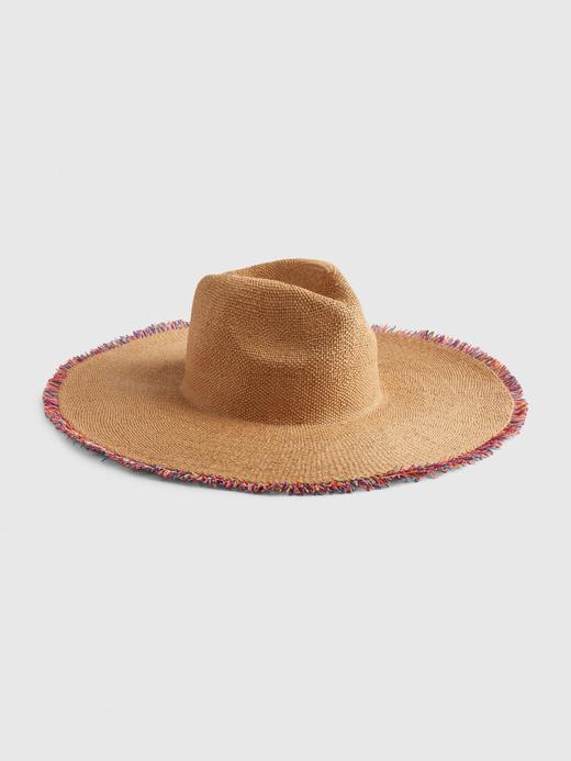 Kadın Çok renkli Püsküllü Hasır Şapka