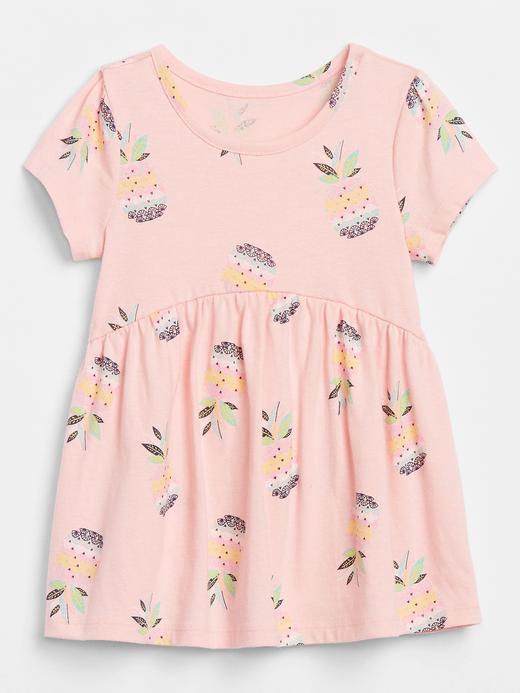 Kız Bebek Pembe Kısa Kollu T-Shirt
