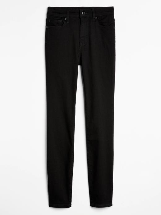 Kadın Siyah High Rise Legging Jean Pantolon
