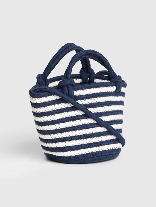 Kadın Lacivert Çapraz Askılı Mini Bucket Çanta