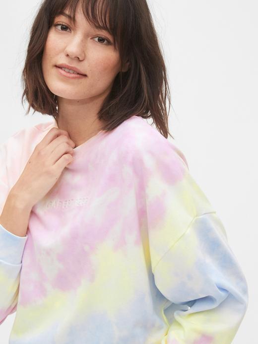 Kadın Mavi Gap Logo Pullover Sweatshirt