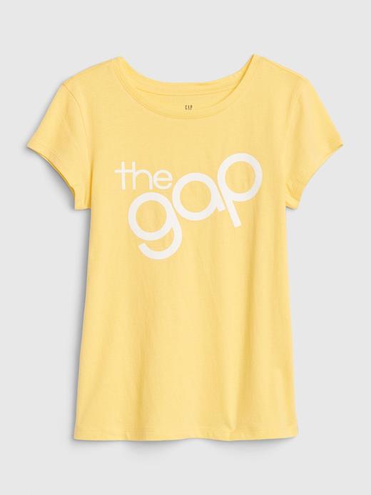 Kız Çocuk Sarı Grafik Kısa Kollu T-Shirt