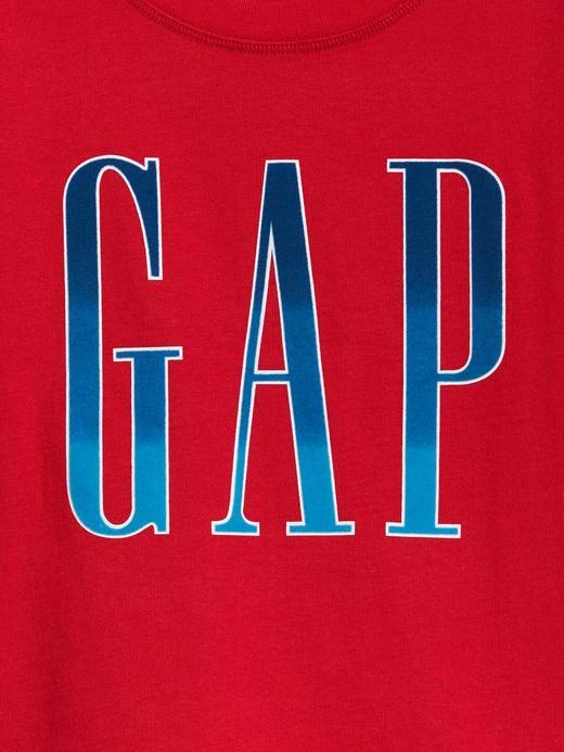 Kız Çocuk Kırmızı Gap Logo Kısa Kollu T-Shirt