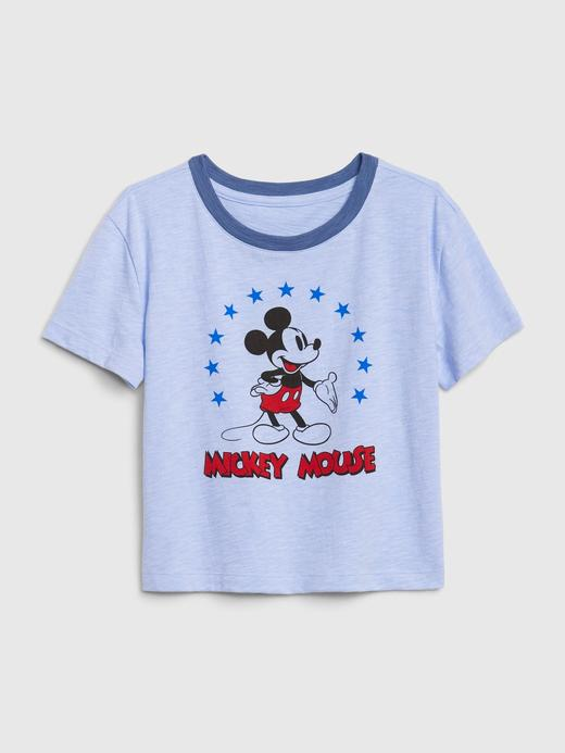 Kız Çocuk Mavi Grafik Kısa Kollu Boxy T-Shirt