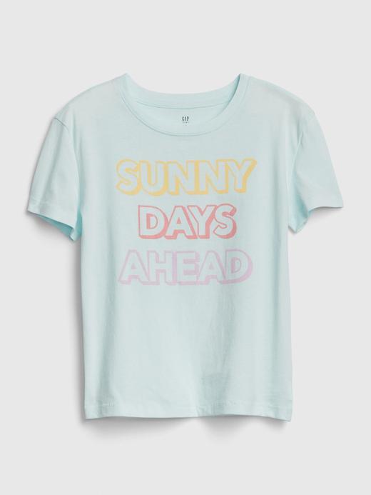 Kız Çocuk Yeşil Grafik Kısa Kollu T-Shirt