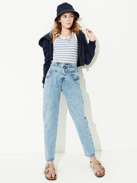 Genç Kız Mavi Genç Kız   Teen High-Rise Mom Jean Pantolon