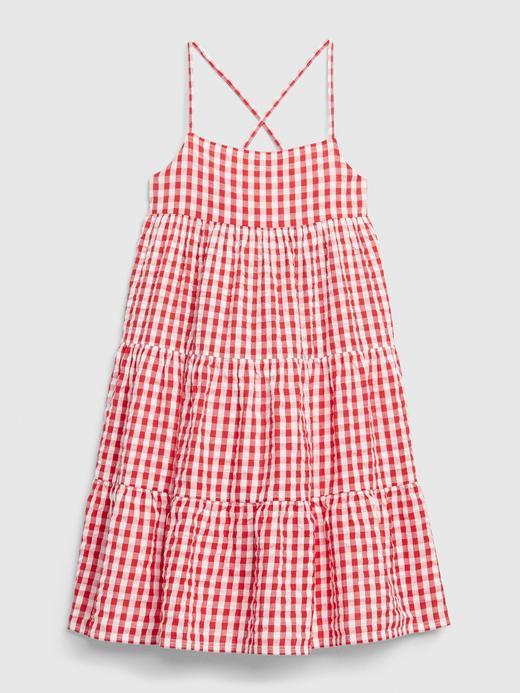 Kız Çocuk Kırmızı Pötikareli Elbise