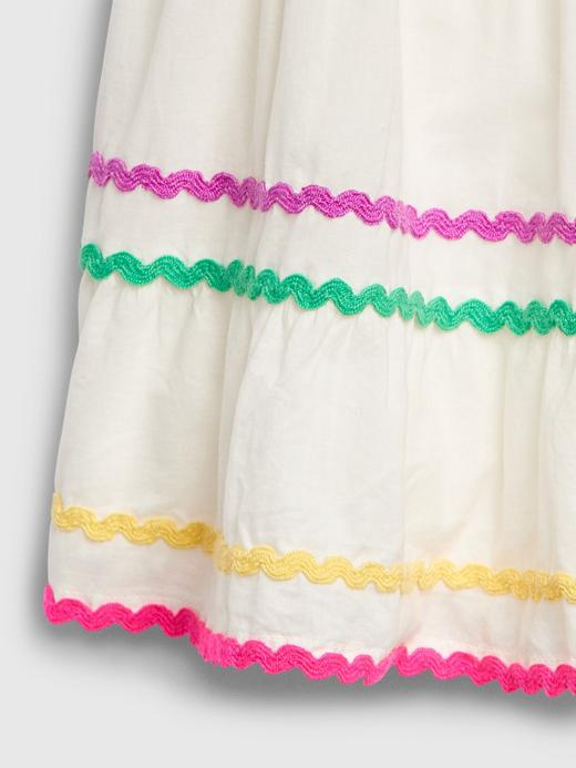 Kız Bebek Beyaz Kolsuz Elbise