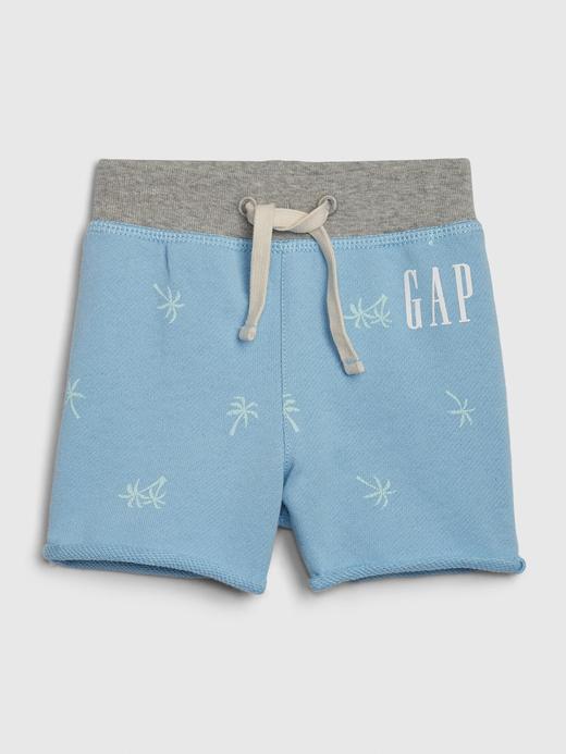 Erkek Bebek Mavi Gap Logo Şort