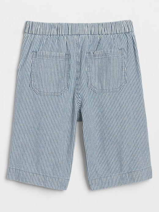 Kız Bebek Mavi Wide-Leg Crop Jean Pantolon