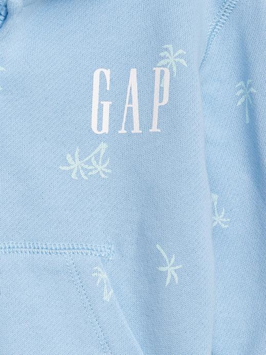 Erkek Bebek Mavi Gap Logo Brannan Kapüşonlu Sweatshirt