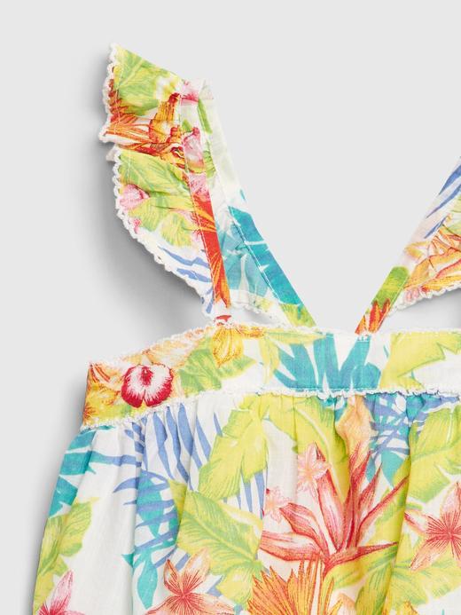 Kız Bebek Çok renkli Çiçek Desenli Bluz
