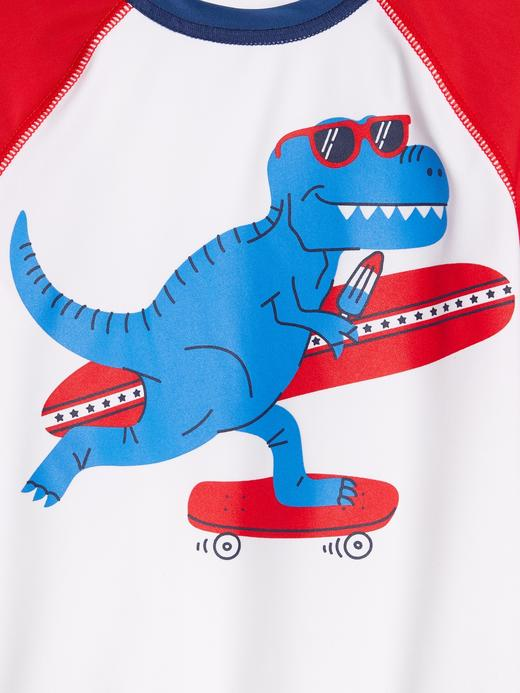 Erkek Bebek Mavi Kısa Kollu RashGuard Mayo T-Shirt