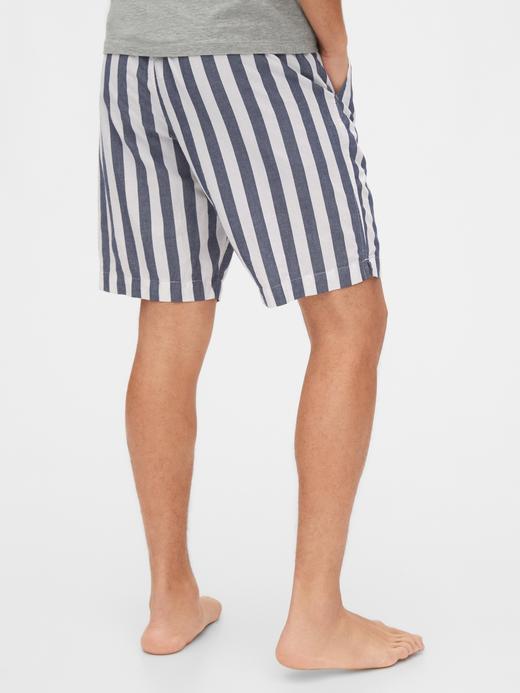 Erkek Mavi Poplin Şort Pijama Altı