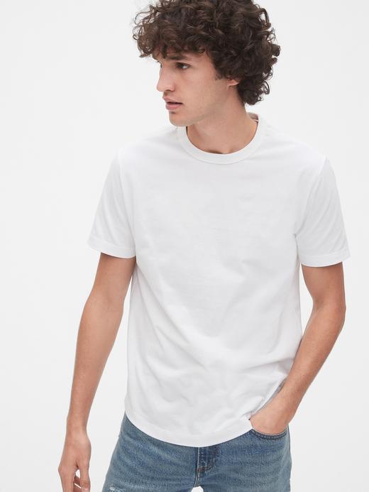 Erkek Beyaz Vintage Soft Kısa Kollu T-Shirt
