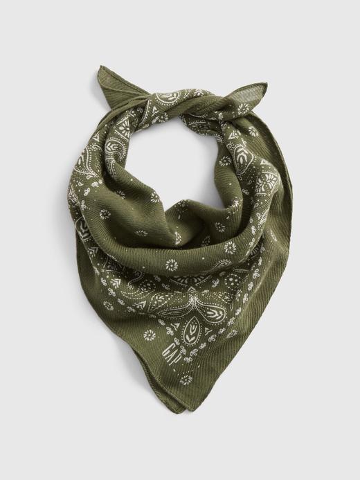 Kadın Yeşil Bandana Şal