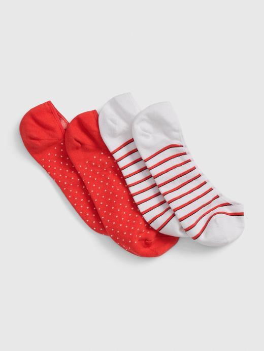 Kadın Kırmızı 2'li Babet Çorabı Seti