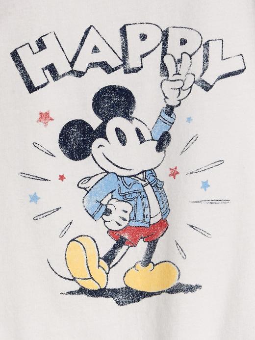 Erkek Bebek Beyaz Disney Mickey Mouse Kolsuz Body