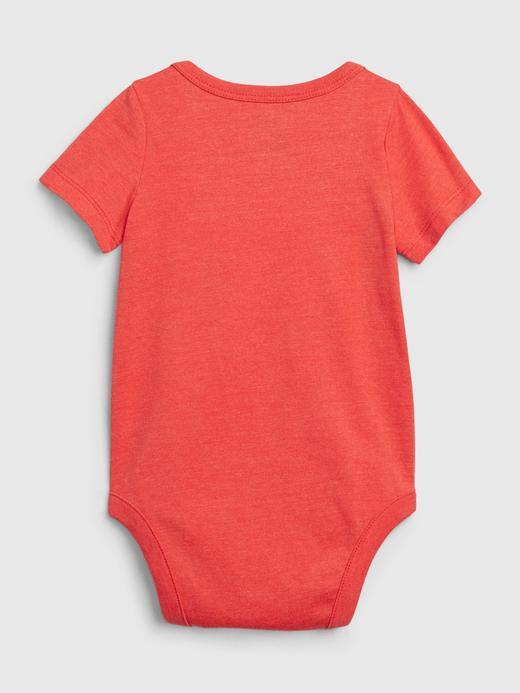 Erkek Bebek Mavi Grafik Desenli Body