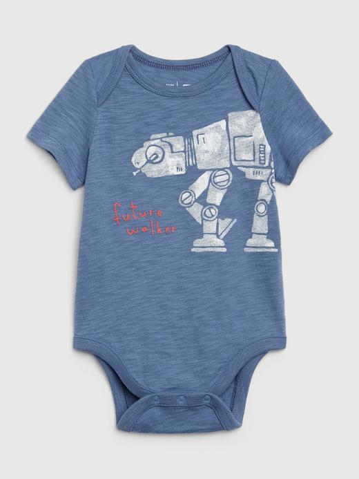 Erkek Bebek Mavi Star Wars™ Kısa Kollu Body