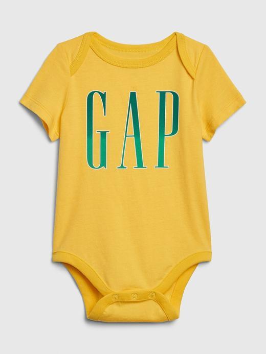Erkek Bebek Sarı Gap Logo Kısa Kollu Body