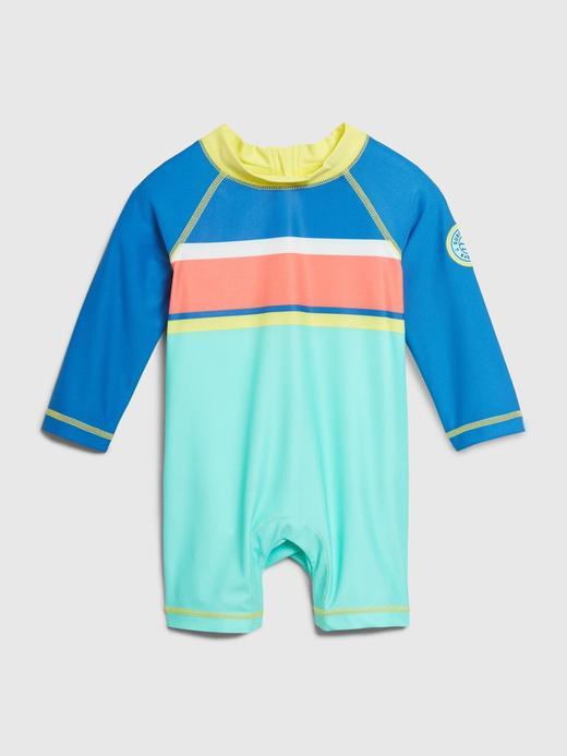 Erkek Bebek Mavi Uzun Kollu Mayo