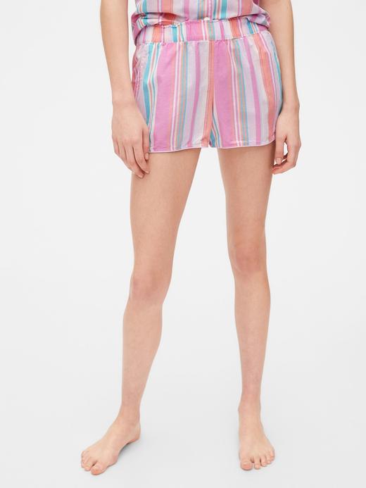 Kadın Pembe Desenli Poplin Pijama Altı