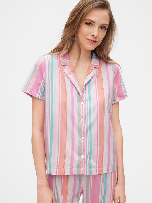 Kadın Çok renkli Poplin Gömlek Pijama Üstü