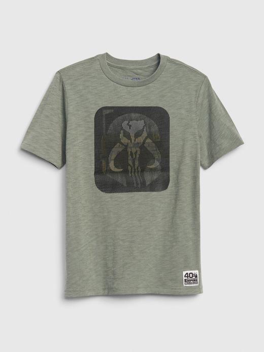 Erkek Çocuk Mavi Star Wars™ Hologram Grafik T-Shirt