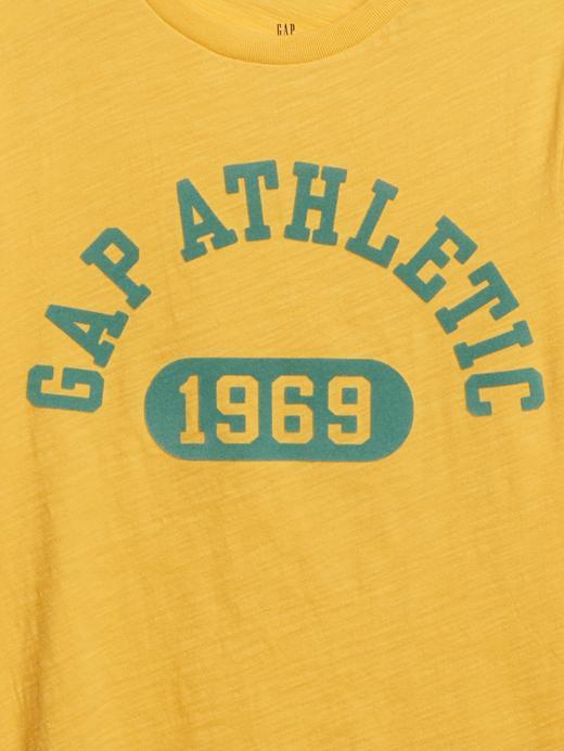Erkek Çocuk Sarı Gap Logo Kısa Kollu T-Shirt