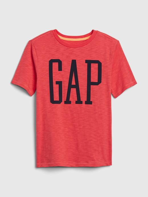 Erkek Çocuk Kırmızı Gap Logo Kısa Kollu T-Shirt