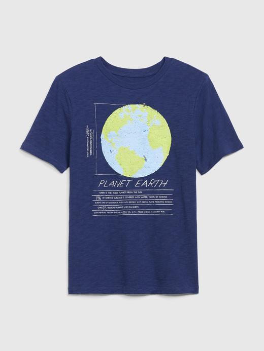 Erkek Çocuk Lacivert Pullu Kısa Kollu T-Shirt