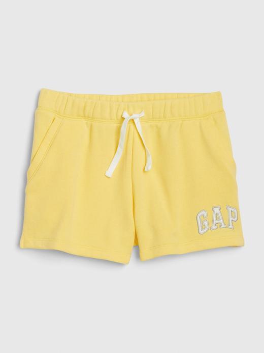 Kız Çocuk Sarı Gap Logo Pull-On Şort
