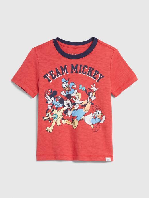 Erkek Bebek Kırmızı Disney Mickey Mouse T-Shirt