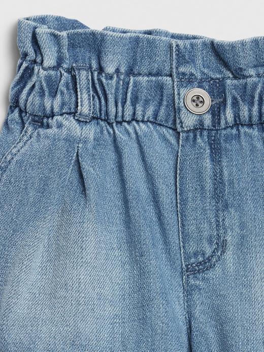 Kız Bebek Mavi Pull-On Şort