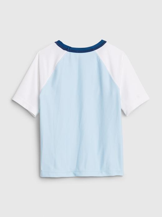Erkek Bebek Mavi Disney Kısa Kollu RashGuard Mayo T-Shirt