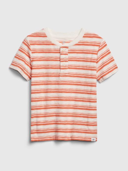 Erkek Bebek Beyaz Henley Kısa Kollu T-Shirt