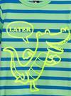 Erkek Bebek Lacivert Grafik Kısa Kollu T-Shirt