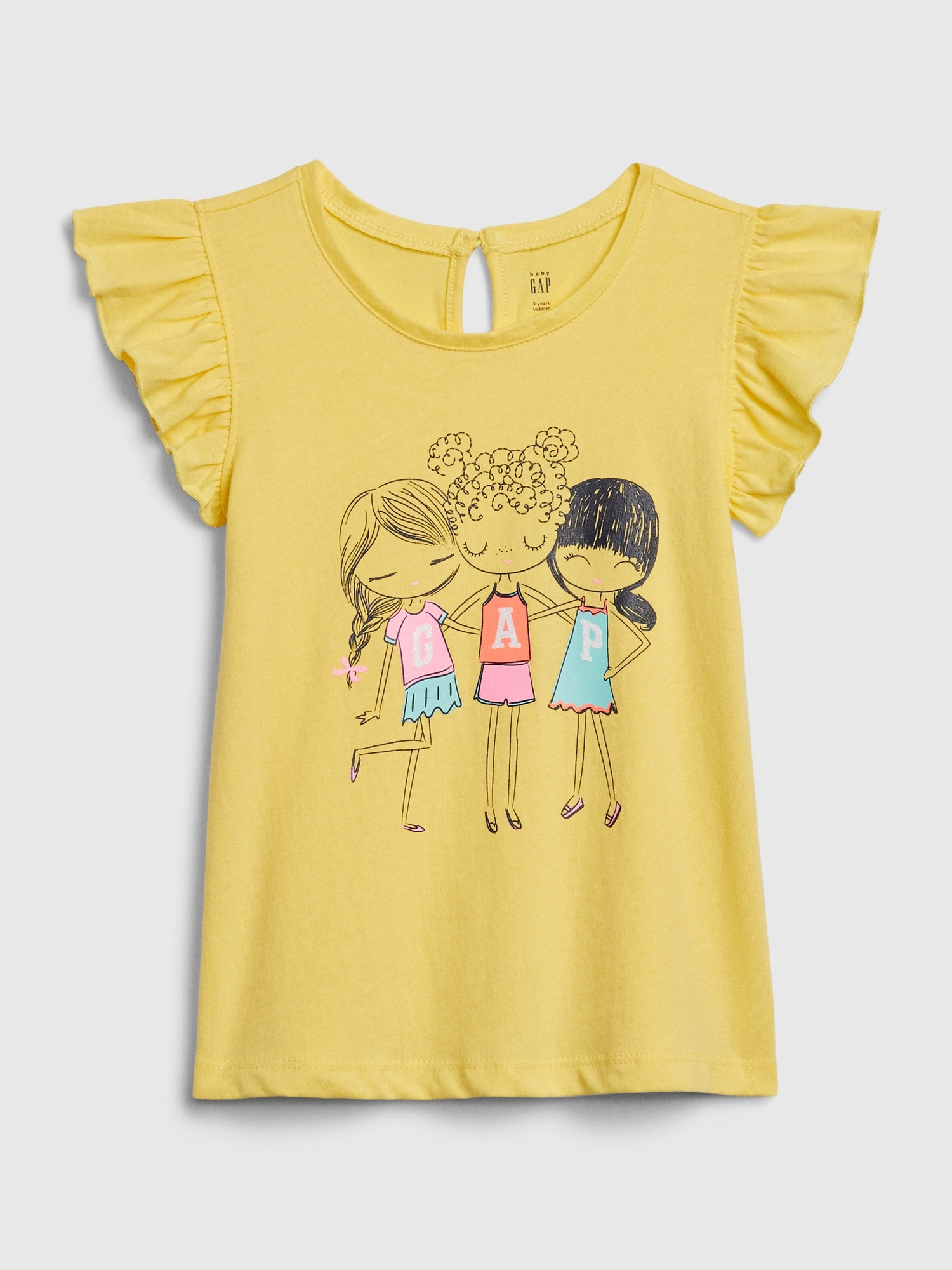 GAP Sarı Bea Gap Logo T-Shirt