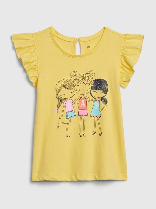 Kız Bebek Sarı Bea Gap Logo T-Shirt