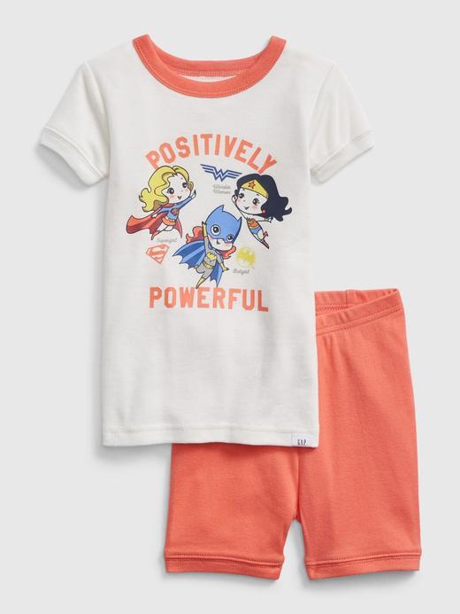 Erkek Bebek Beyaz DC™ Female Superheroes Pijama Takımı