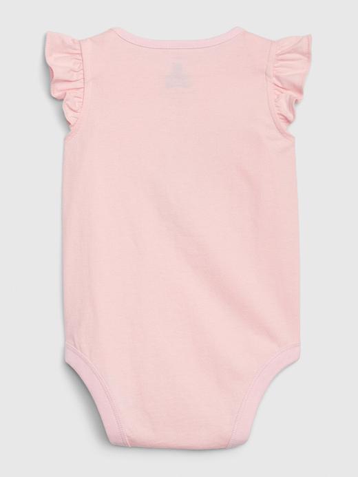 Kız Bebek Beyaz Grafik Desenli Body