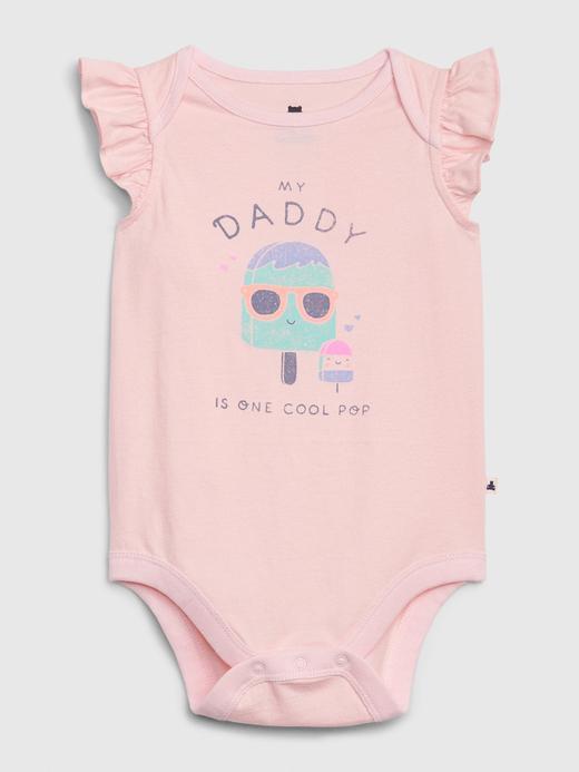 Kız Bebek Pembe Grafik Desenli Body