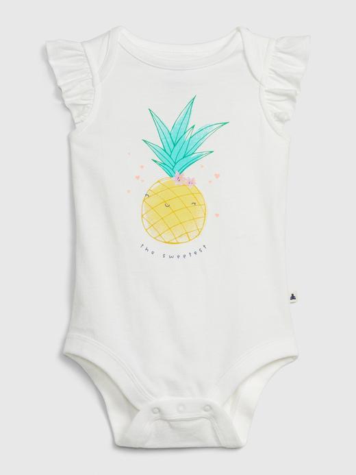 Kız Bebek Beyaz Ananas Desenli Body