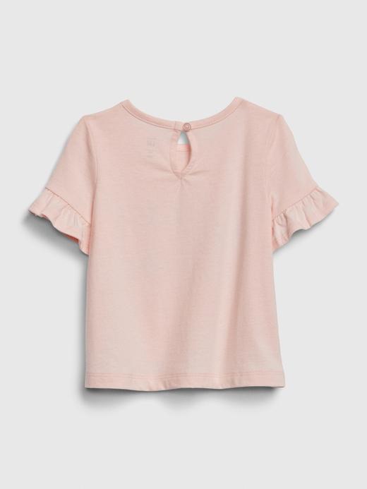 Kız Bebek Pembe Gap Logo Kısa Kollu T-Shirt