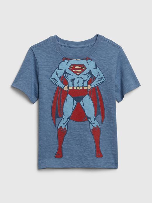Erkek Bebek Mavi DC ™ Grafik Desenli T-Shirt