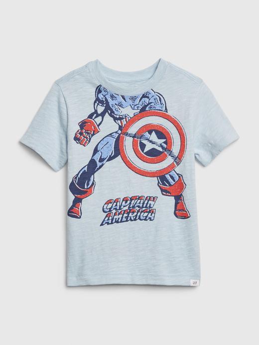 Erkek Bebek Mavi Marvel© Grafik Kısa Kollu T-Shirt