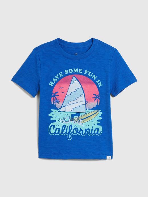 Erkek Bebek Mavi Cepli Kısa Kollu T-Shirt